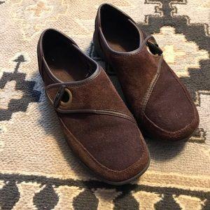 Lands End Women 7.5 M Brown winter shoes- cozy!